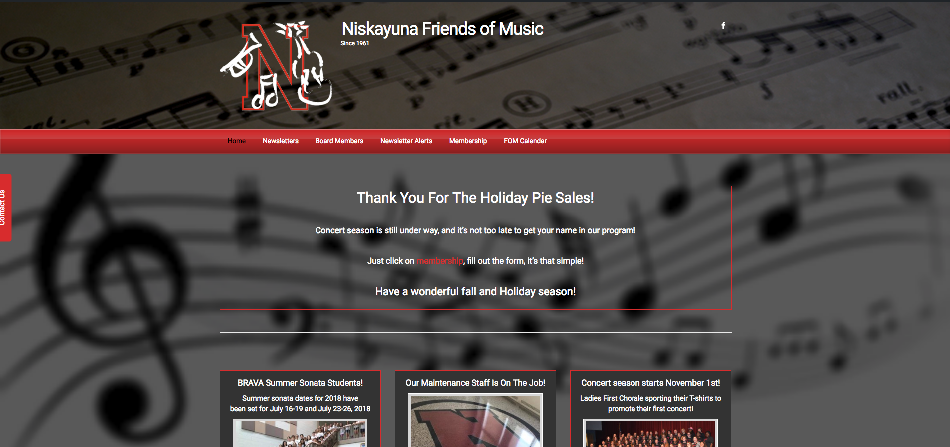 Nisky FOM Home - Niskayuna Friends of Music